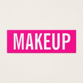 Minimalist moderiktig visitkort för makeupkonstnär