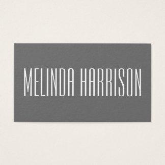 Minimalist modern djärv grå visitkort
