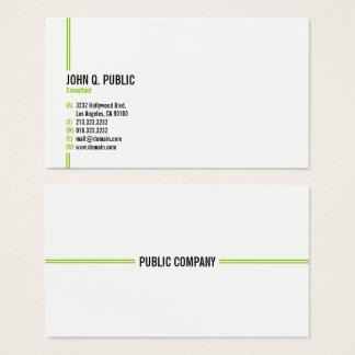 Minimalist modern elegant professionell visitkort