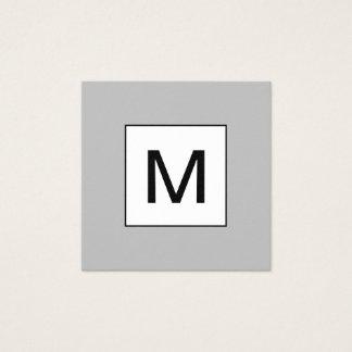 Minimalist modern grå färgvisitkort för djärv fyrkantigt visitkort