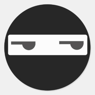 minimalist ninja runt klistermärke