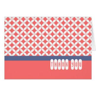 Minimalist rosa Retro mönsterkort Hälsningskort