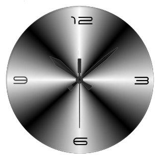 Minimalist rostfritt stål Look>Wall tar tid på Stor Klocka