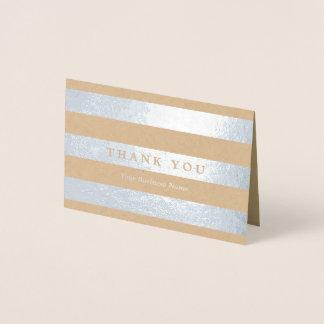 Minimalist silver görar randig tack folierat kort