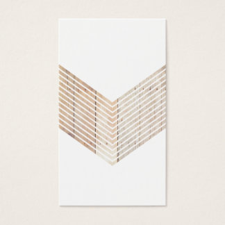 Minimalist sparre för vit med trä visitkort