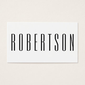 Minimalist svartvit modern visitkort