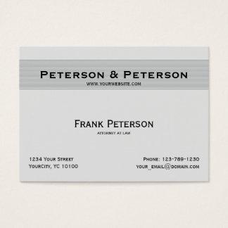 Minimalist texturerad randig advokat för elegant set av breda visitkort