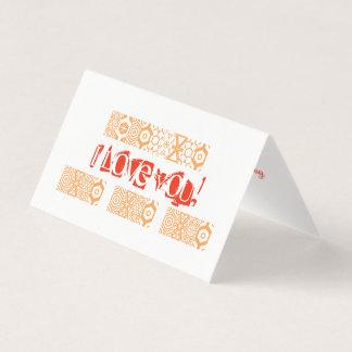 Minimalist valentin dagkort kort