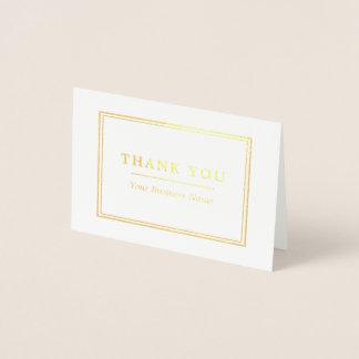 Minimalist vit & guld- tack folierat kort