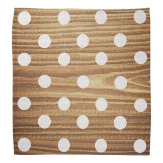 Minimalist wood polkaprickar bandana