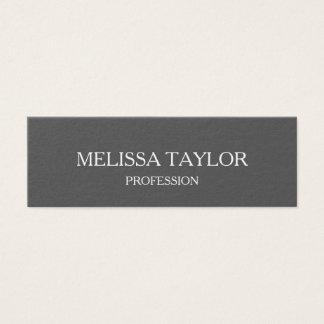 Minimalist yrkesmässig grå färgvisitkort litet visitkort