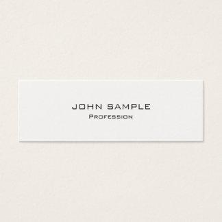 Minimalist yrkesmässiga moderna vit och grå färg litet visitkort