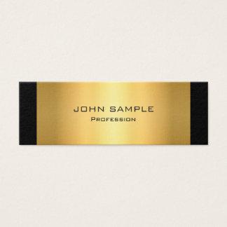 Minimalist yrkesmässigt modernt svart och guld litet visitkort