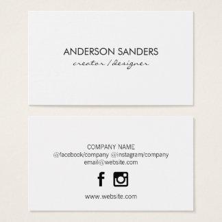 Minimalist yrkesmässigt socialt massmedia visitkort