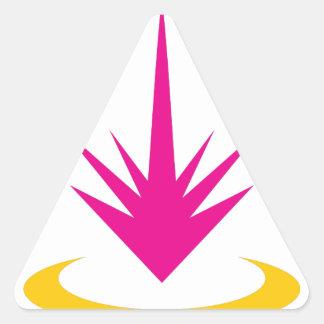 Minimalisten strålar design triangelformat klistermärke