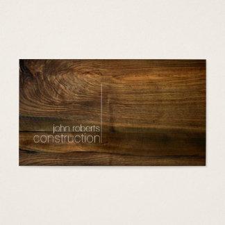 Minimalistic wood konstruktionsvisitkort visitkort