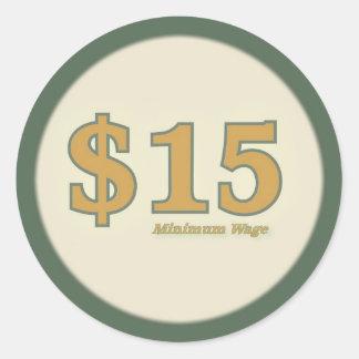 Minimum klistermärke för timpenning $15 - guld