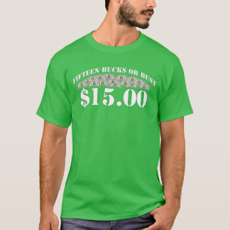 Minimum timpenning $15 t shirt