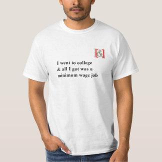 Minimum timpenningT-tröja för högskola - T-shirts