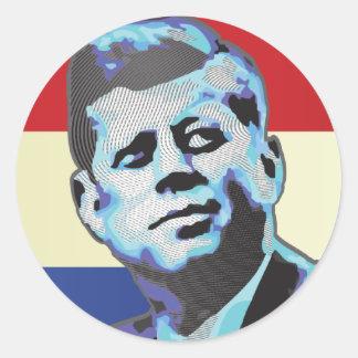 Minnas John F. Kennedy Runt Klistermärke