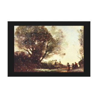 Minne till Terracina', Jean-Baptiste_Landscape Canvastryck