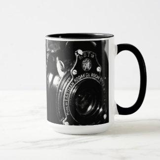 Minnen en kamera för vintageKodak vikning Mugg