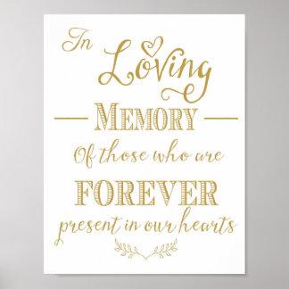 Minnes- bord för bröllop i minnestryck poster
