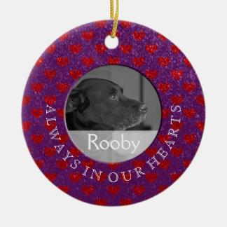 Minnes- foto för husdjur | i minne av julgransprydnad keramik
