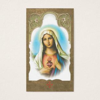 Minnes- sakral hjärta av det Mary bönkortet Visitkort