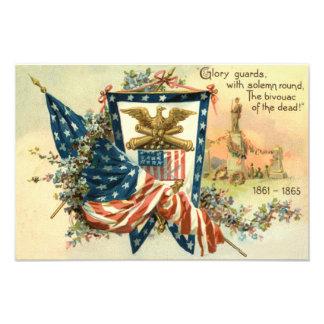 Minnesdagen för örn för inbördeskrig för US-flagga