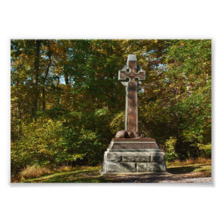 Minnesmärke för brigad för Gettysburg nationalpark Fototryck