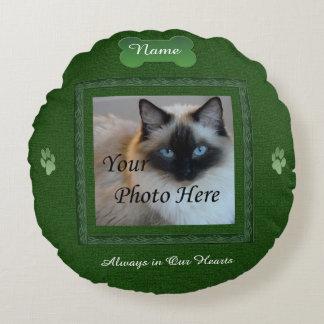 Minnesmärke för hund- eller kattgrönthusdjur rund kudde