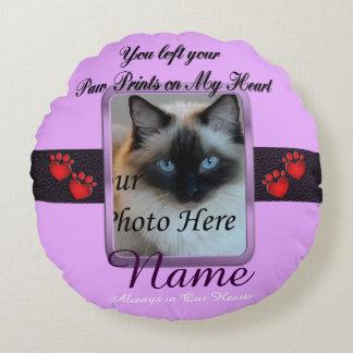 Minnesmärke för hund- eller kattMauvehusdjur Rund Kudde