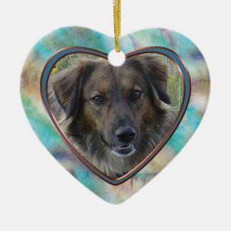 Minnesmärke för husdjur för abstrakt för julgransprydnad keramik