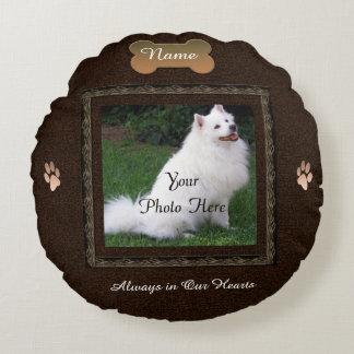 Minnesmärke för husdjur för hund- eller rund kudde