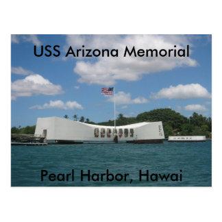 Minnesmärke för USS Arizona, pärlemorfärg hamn, Vykort