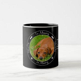 Minnesmärke - förlust av hunden - beställnings- Två-Tonad mugg