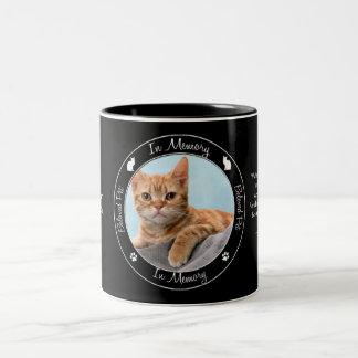 Minnesmärke - förlust av katten - beställnings- Två-Tonad mugg