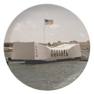 Minnesmärken för USS Arizona pläterar Tallrik