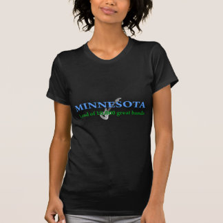 Minnesota - land av 10.000 musikband tee