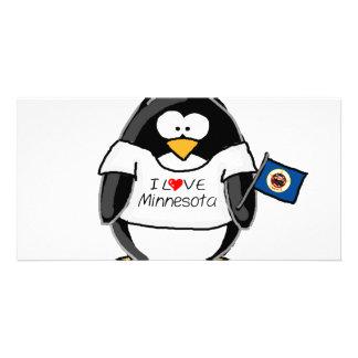 Minnesota pingvin anpassingsbara fotokort