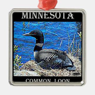 Minnesota vanligt Loon Julgransprydnad Metall