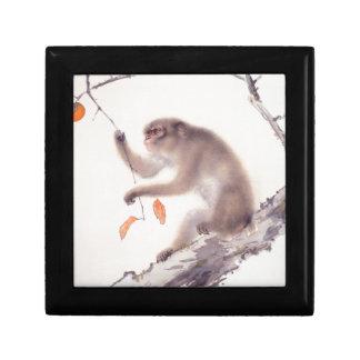 Minnessak B för Zodiac för japansk målning för apa Smyckeskrin