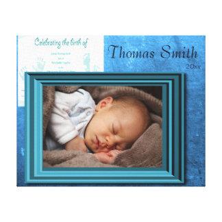 Minnessak för pojkefödelsefoto canvasdukar med gallerikvalitet