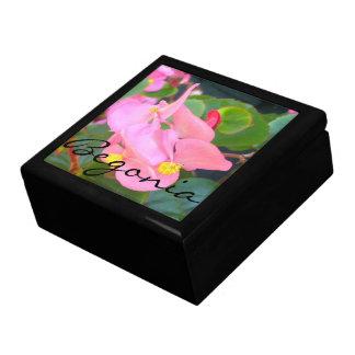 "Minnessaken boxas - den rosa ""begoniaen "", minnesask"