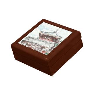 Minnessaken för den Shintennouji tempelJapan boxas Presentskrin