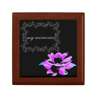 minnessaken för lotusblommablommapersonligen boxas smyckeskrin