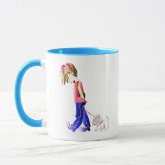 Minnie-mig gullig pojke som går digital konst för mugg