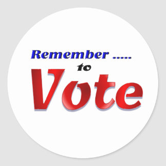 Minns att rösta runt klistermärke