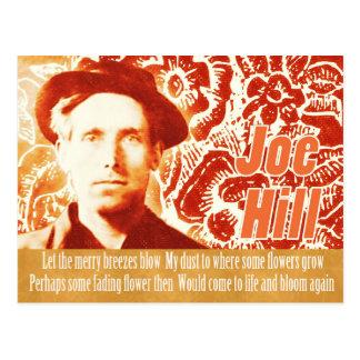 Minns collage för flower power för den Joe backen Vykort